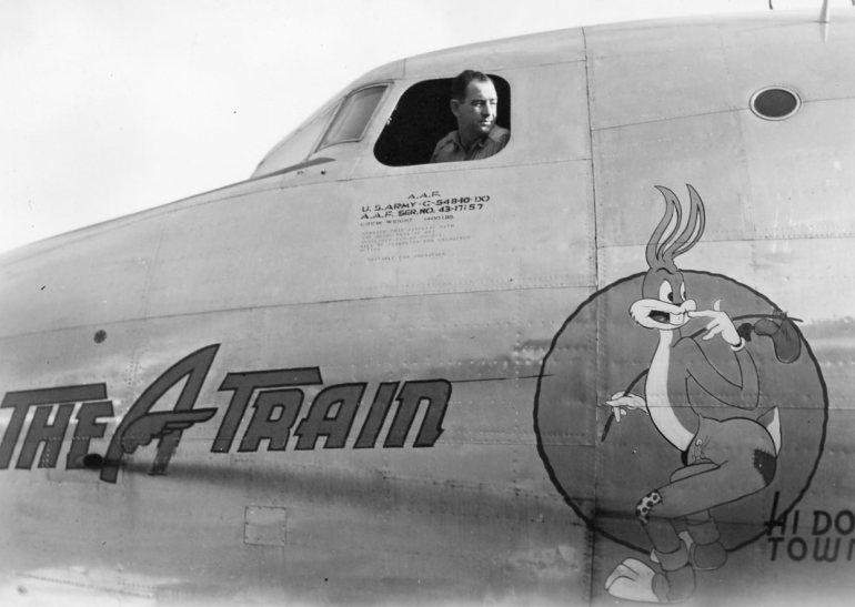 W R Allen black and white photograph of ww2 plane