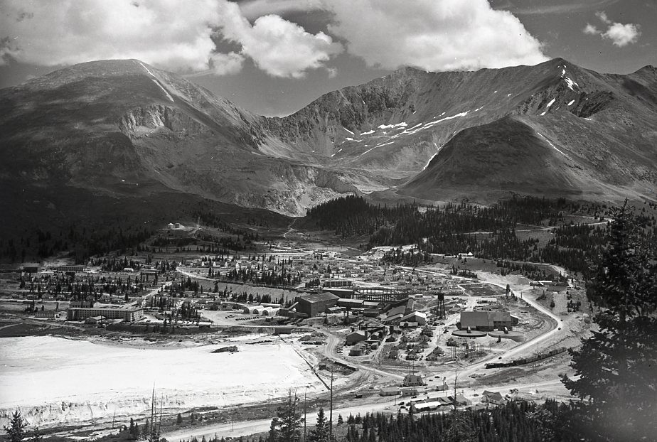 black and white photo of Climax Colorado